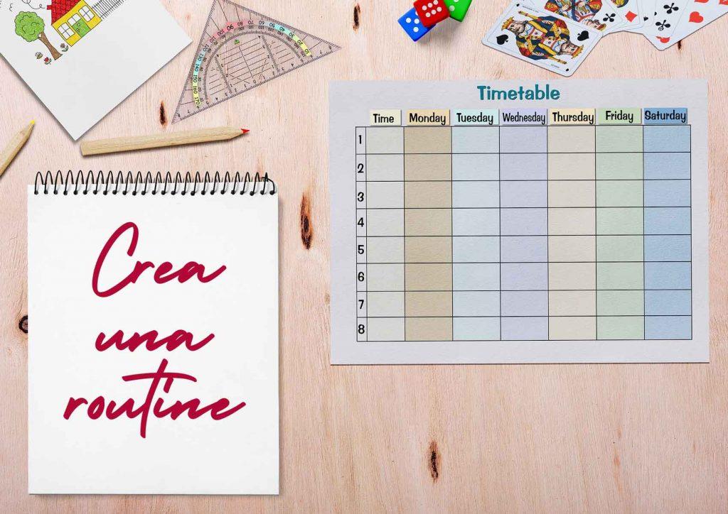 crea una routine