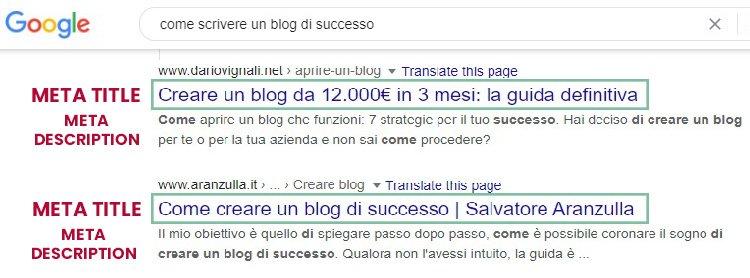 meta title e meta description