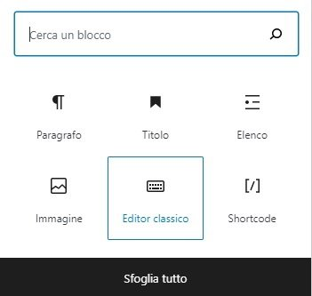 editor classico wordpress