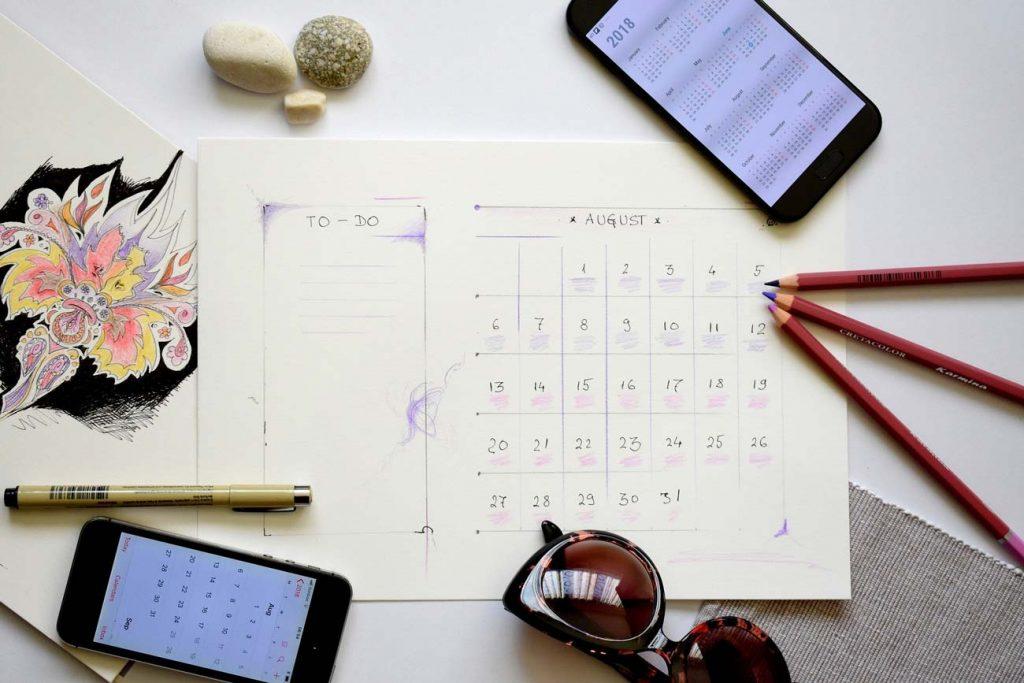 calendario editoriale e blogging